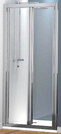 KIRBY SEBASTIAN BARCELONA POLISHED ALUMINIUM 700mm BI-FOLD DOOR, BAR700BF